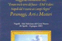 Locandina Maggio dei Monumenti 2003
