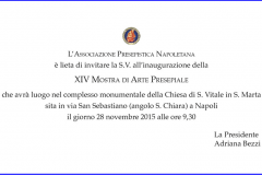 Invito della Presidente alla XIV Mostra